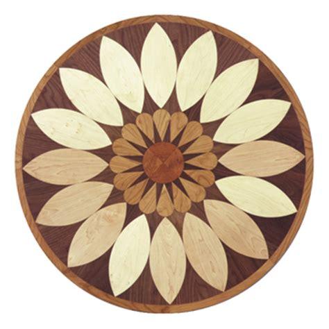 Wood Floor Inlay Medallion Flower