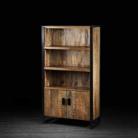 delia bookcase made of mango wood and wrought iron