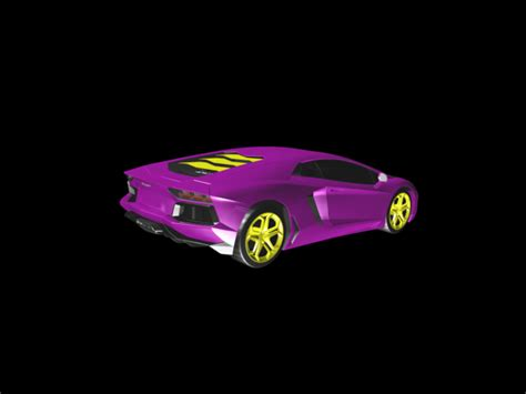 3d printed lamborghini 3d printed purple lamborghini by gnarly 3d kustoms pinshape