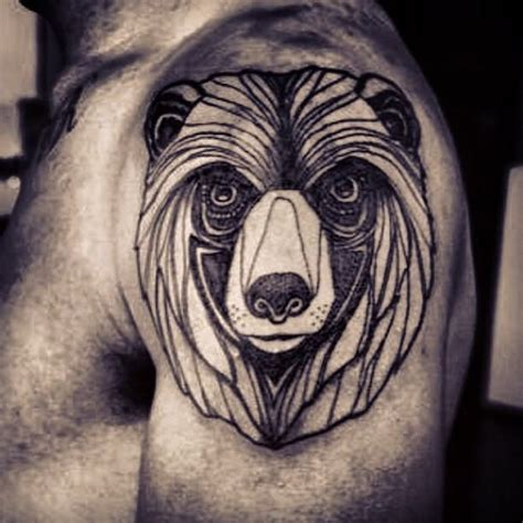 bear head tattoo images designs