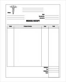 Blank Receipt Template Pdf Medical Receipt Template 16 Free Word Excel Pdf