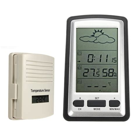 wireless outdoor indoor weather station thermometer