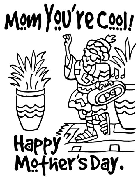 crayola coloring pages mothers day mom you re cool crayola ca