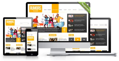 html5 templates for news website rumors news magazine responsive html5 template by