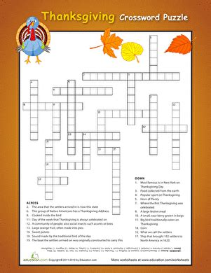 free printable thanksgiving logic puzzles thanksgiving crossword puzzles education com