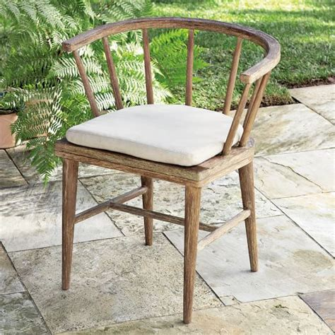 outdoor patio dining chairs outdoor dining chair cushion west elm