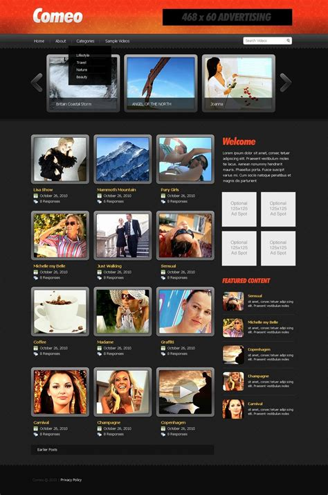 Video Gallery Website Template 27659 By Wt Website Templates Photo Gallery Website Template Free