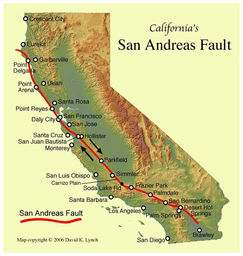 san andreas fault line map imagine america without los angeles expert warns southern california isn t ready for major