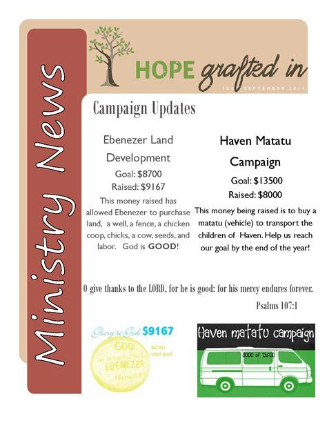 Sponsorship Newsletter 3rd Quarter Sponsor Newsletter Grafted In