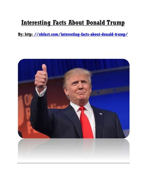 donald trump facts interesting facts about donald trump