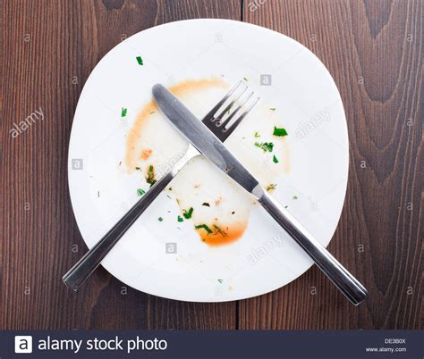 After Dinner empty plate left after dinner stock photo 60310794 alamy