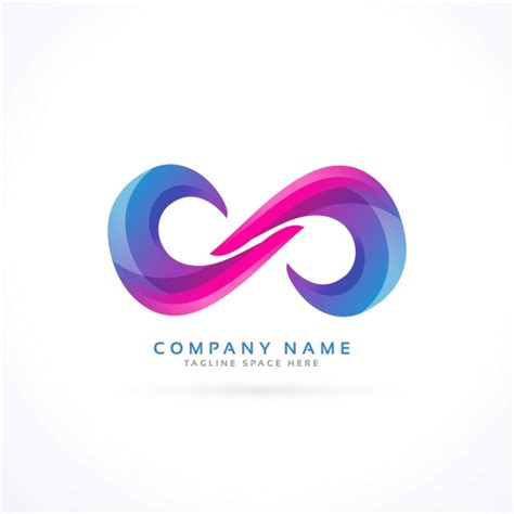 free infinity logo with an abstract infinity vector free