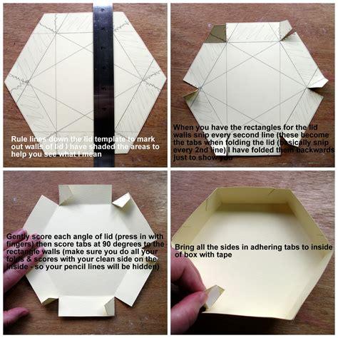 explosion box lid tutorial hexagonal exploding box tutorial