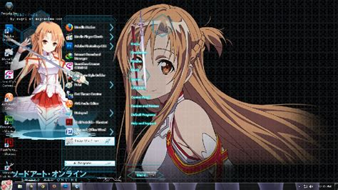 download themes windows 7 sword art online november 2013 theme anime windows