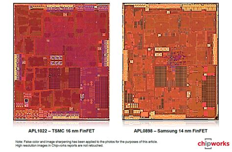 apple a9 analyzing a9 dual sourcing die size the apple iphone