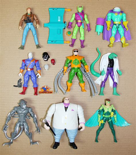 figure 90s spider animated series figure lot of 9 1990s