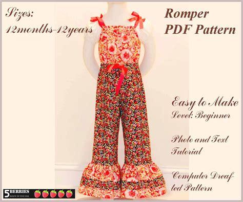 free toddler romper sewing pattern 5 berries girls romper pattern free mother daughter apron
