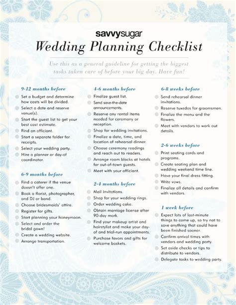 Wedding Checklist From Jean M by The Ultimate Wedding Planning Checklist