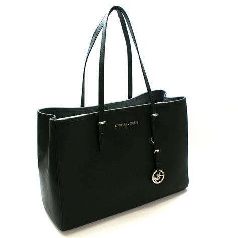 Michael Kors Saffiano Jet Set Travel East West Tote Black