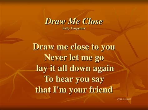 I M Drawing Closer To You by Ppt Draw Me Carpenter Draw Me To You