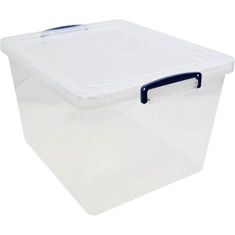 storage box really useful clear plastic storage box 33 5 litres hobbycraft