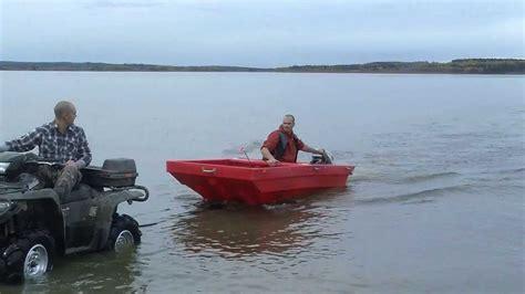 folding jon boat price tetrapod atv trailer boat youtube