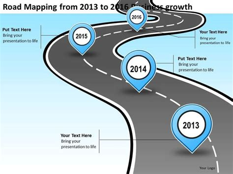 road powerpoint template business roadmap icon product roadmap timeline road