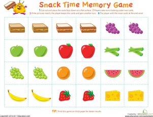 picture memory game worksheet education com