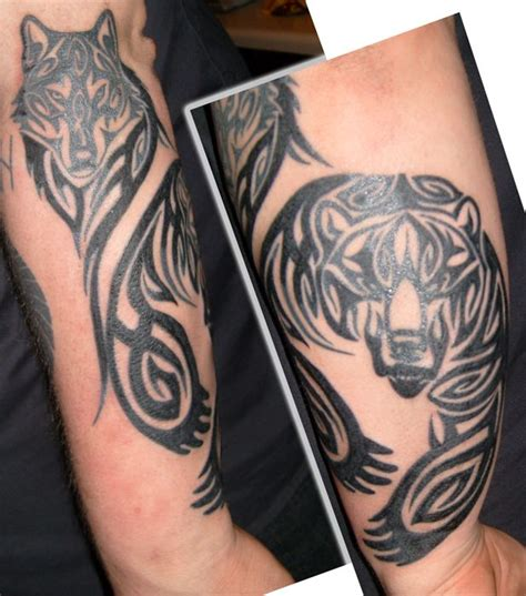 bear and wolf tattoo designs 25 best ideas about tribal on