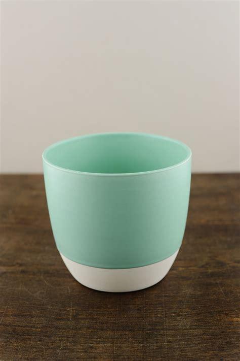 """Bumble Ceramic Flower Pots 5.5"""" x 5"""" Aqua"""