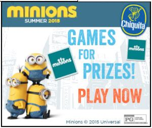 Chiquita Banana Sweepstakes - win the chiquita banana minions sweepstakes seriously free stuff