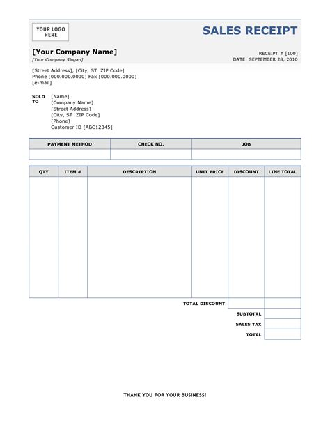 Templates For Bill O Sale Receipt by 6 Free Sales Receipt Templates Excel Pdf Formats