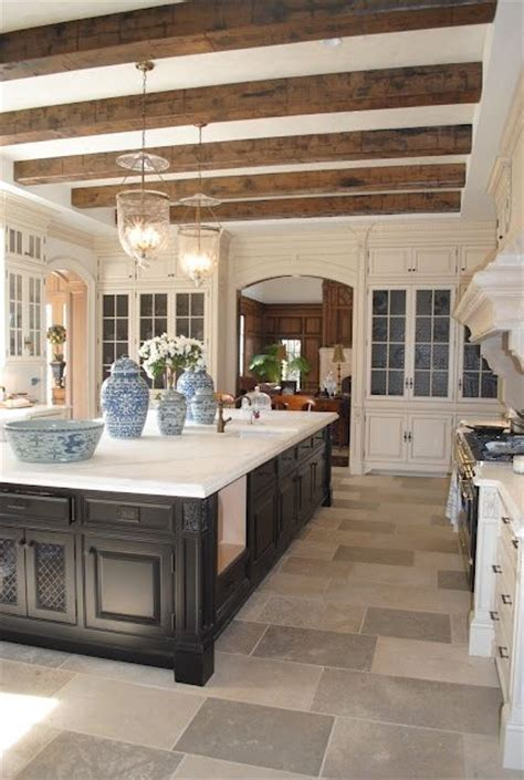 french kitchen island love the wooden beams french country kitchen fabulous