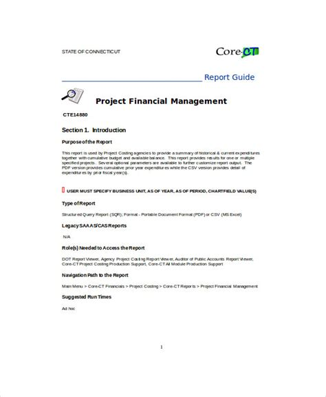 Ct Reports Templates Sle Project Report Format 6 Exles In Pdf Word