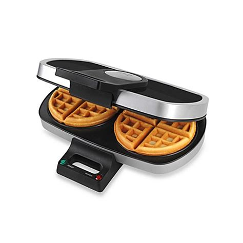 buy tru dual round belgian waffle maker from bed bath beyond