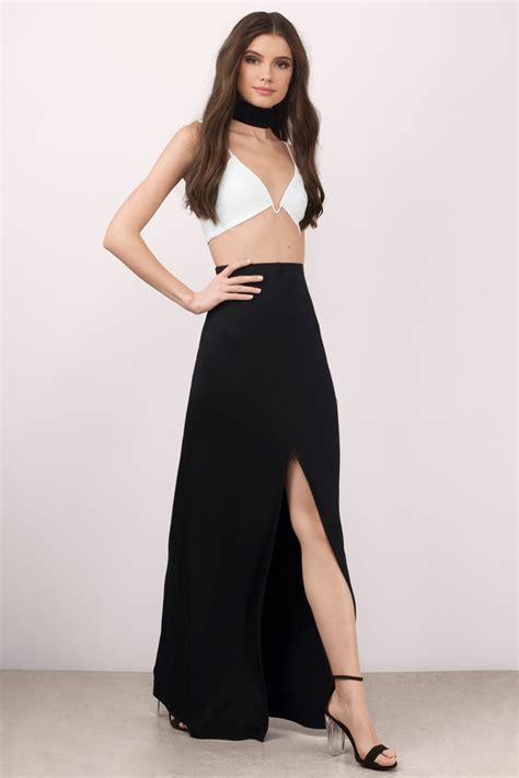 black skirt front slit skirt black skirt 52 00