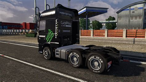 hoonigan truck hoonigan skin for daf 6 mods