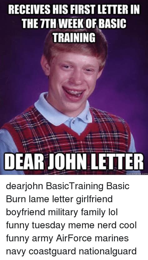 Funny Nerd Memes Of 2017 On Sizzle Nerd Meme - receives his firstletterin the tth week of basic training