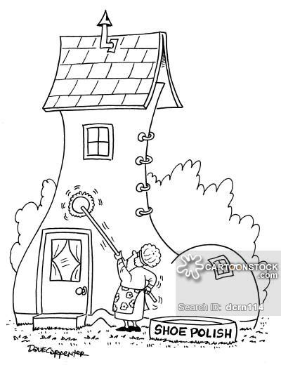 shoe house cartoon old woman who lived in a shoe cartoons and comics funny pictures from cartoonstock