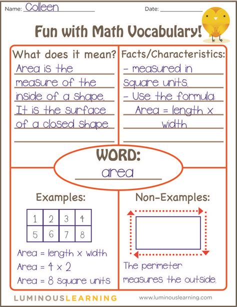 non printable area in word maths vocabulary display year 2 1000 ideas about math