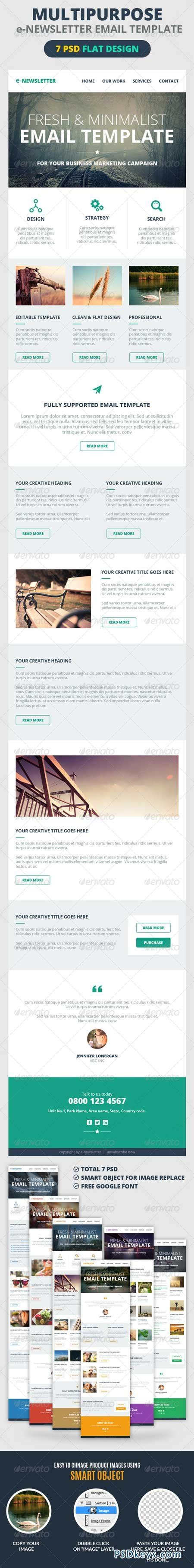 Multipurpose E Newsletter Email Template 7201434 187 Free Download Photoshop Vector Stock Image How To Create A Newsletter Template In Photoshop