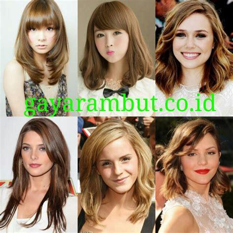 Model Rambut Rebonding by 60 Model Rambut Pesta Malam Untuk Wanita Wajah Bulat Yang