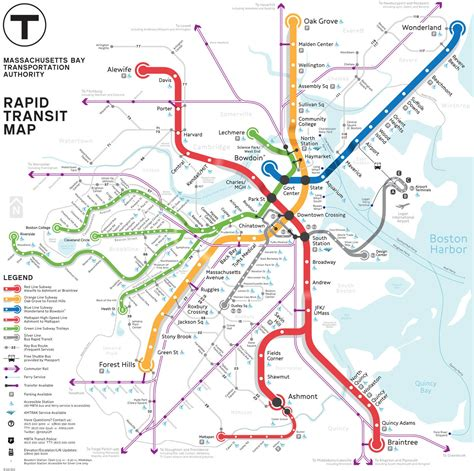 boston transit map mbta gt about the mbta