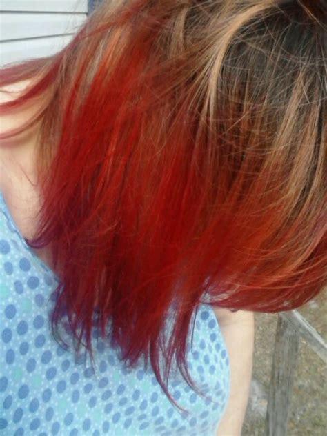 black cherry kool aid hair dye cherry red kool aid kool aid dip dyed hair pinterest