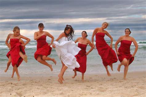 Red bridesmaid dresses true bride
