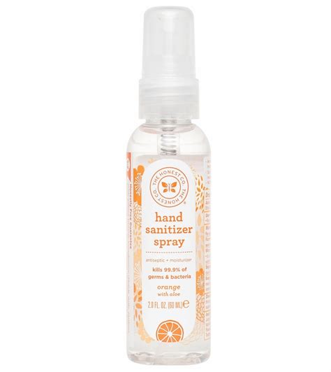 honest company hand sanitizer spray orange  oz