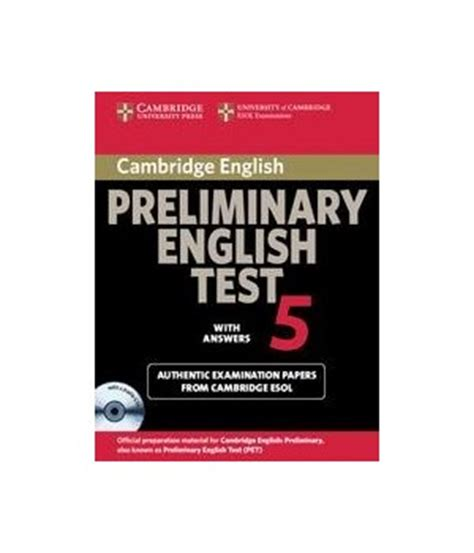 cambridge preliminary english test 5 student s book with answers and audio cd cambridge