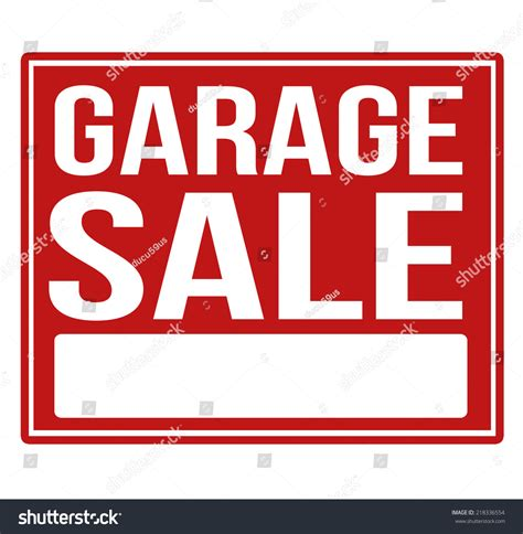 Garage Sale On by Garage Sale Sign With Copy Space Isolated On A White