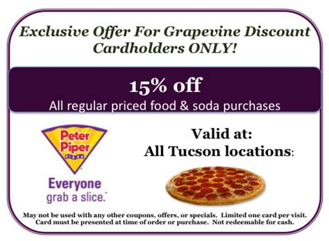 piper buffet coupons piper pizza 9545 e trail 85748 in