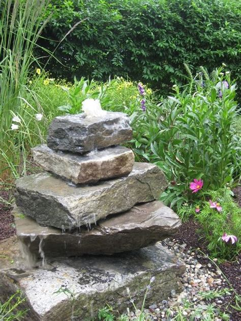 Rock Garden Features Stacked Fountains Search S Garden Gardens Search And Stones